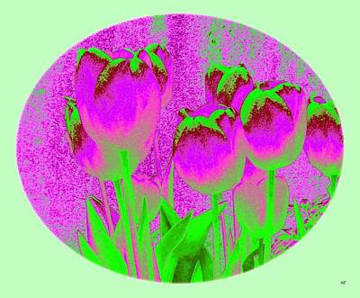 Frame House Digital Art - Noric House Tulips by Will Borden