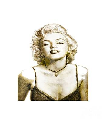 Drawing - Norma Jean by Yanni Theodorou