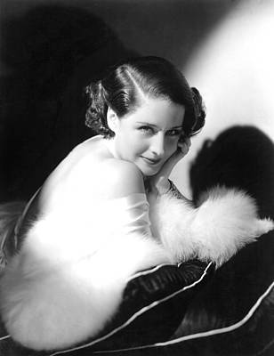 1930s Hairstyles Photograph - Norma Shearer, Ca. 1930s by Everett