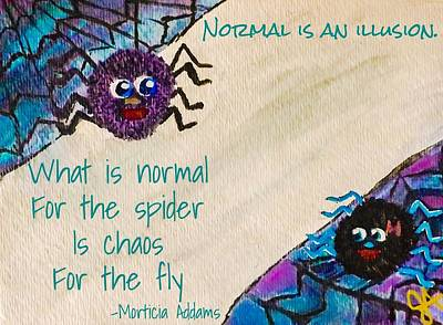 Normal Painting - Normal Spider Chaos Fly by Jennifer Turner