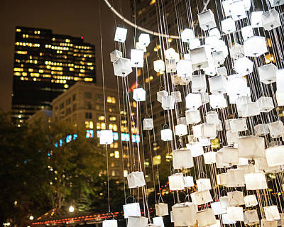 Photograph - Norman B Leventhal Park Light Cubes Boston Ma Close by Toby McGuire