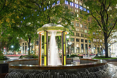 Photograph - Norman B Leventhal Park Water Fountain Boston Ma Post Office Square by Toby McGuire