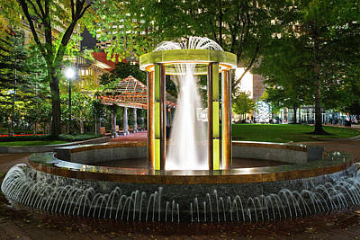 Photograph - Norman B Leventhal Park Water Fountain Boston Ma by Toby McGuire