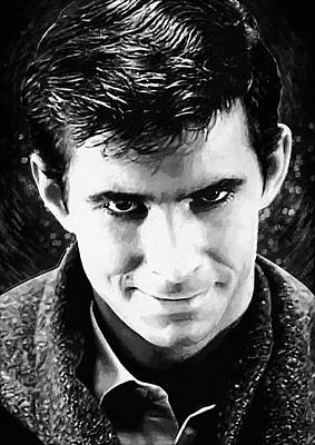 Scary Digital Art - Norman Bates by Taylan Apukovska