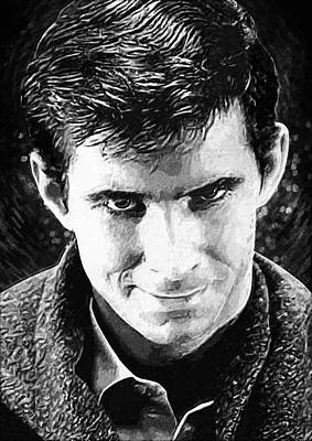Scream Digital Art - Norman Bates by Taylan Apukovska