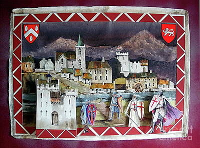 Mixed Media - Anglo Norman Bray 1250ad by Val Byrne