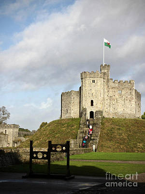 11th Green Photograph - Norman Keep At Cardiff Castle by Rachel Morrison
