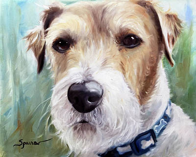 Terrier Painting - Norman Knows by Mary Sparrow