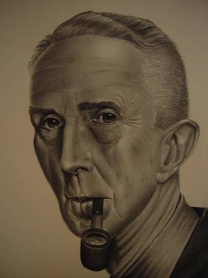 Painting - Norman Rockwell By Gene Boyer by Ron Sylvia