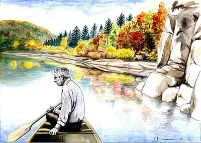 Blackfoot River Painting - Norman by Scott Manning