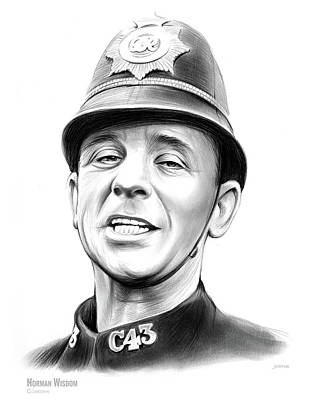 Drawings Rights Managed Images - Norman Wisdom Royalty-Free Image by Greg Joens