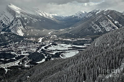 Photograph - Norquay Banff Town Views by Adam Jewell