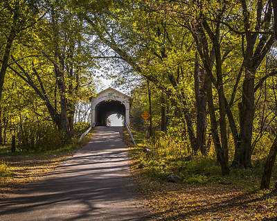 Music Royalty-Free and Rights-Managed Images - Norris Ford covered bridge by Jack R Perry