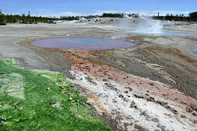 Photograph - Norris Geyser Basin 15 by Jeff Brunton