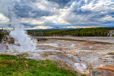 Photograph - Norris Geyser Basin by John M Bailey