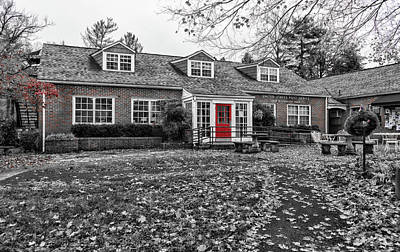 Photograph - Norris Post Office Selective Red by Sharon Popek