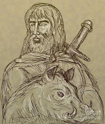 Norse God Of Agriculture Art Print by Aloysius Patrimonio