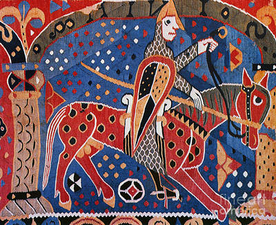 Painting - Norse Warrior, 12th Cent by Granger