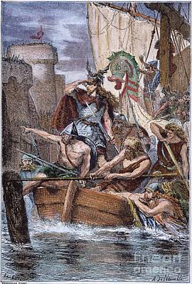 Norsemen Photograph - Norsemen: Rollo, 885 A.d by Granger