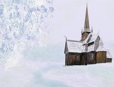 Digital Art - Norsk Kirke by Victor Shelley