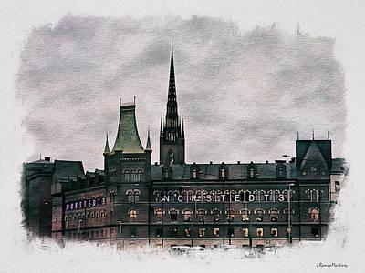 Sweden Digital Art - Norstedts by Ramon Martinez