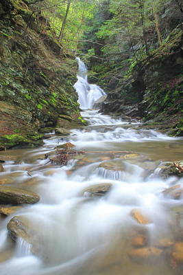 Photograph - North Adams Cascade  by John Burk