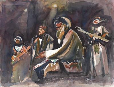 Painting - North African Musicians by Gaston McKenzie