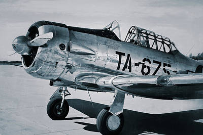 Photograph - North American Aviation T-6 Texan Monochrome Plane by Tony Grider