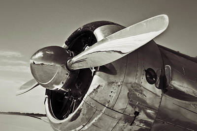 Photograph - North American Aviation T-6 Texan Plane In Sepia by Tony Grider