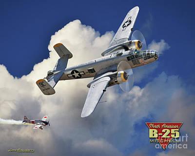 B-25 Mitchel Bomber Art Print