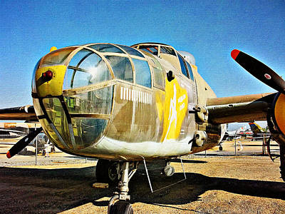 Photograph - North American B-25j Mitchell - Color by Glenn McCarthy Art and Photography