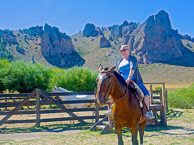 Fragua Photograph - North American Cowgirl On  La Fragua Ranch In Patagonia Near Bariloche-argentina by Ruth Hager