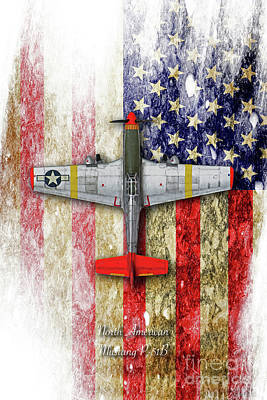 North American P51 Mustang Digital Art - North American Mustang P-51b by J Biggadike