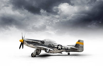 Group Digital Art - North American P-51 Mustang by Douglas Pittman