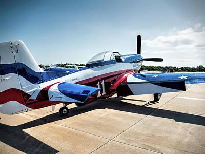 Air Force Photograph - North American P-51 Mustang  V4 by John Straton
