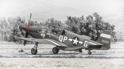 Photograph - North American P-51b Mustang by Douglas Castleman