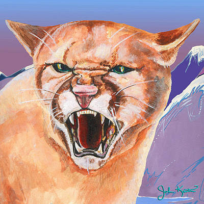 Johnkeaton Painting - North American Puma by John Keaton
