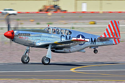 Print featuring the photograph North American Tp-51c-10 Mustang Nl251mx Betty Jane Deer Valley Arizona April 13 2016 by Brian Lockett