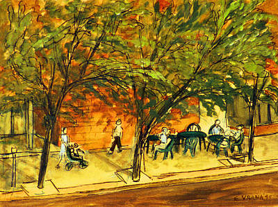 Ithaca Painting - North Aurora Street Ithaca New York by Ethel Vrana