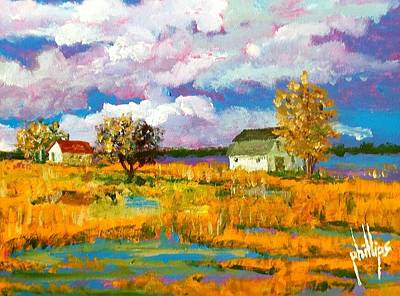 Painting - North Bank Of The White Oak River by Jim Phillips