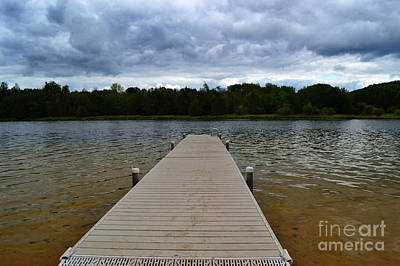 Photograph - North Bar Lake Pier by Amy Lucid