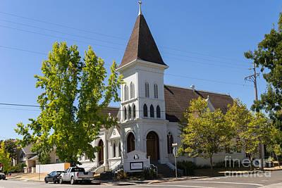 North Bay Revival Center Church Petaluma California Usa Dsc3790 Art Print by Wingsdomain Art and Photography