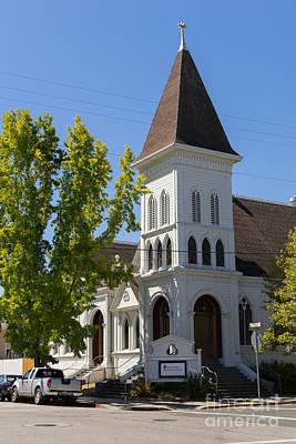 North Bay Revival Center Church Petaluma California Usa Dsc3791 Art Print by Wingsdomain Art and Photography