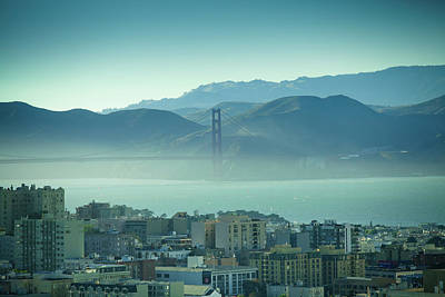 Mountain Photograph - North Beach And Golden Gate by Hal Bergman Photography