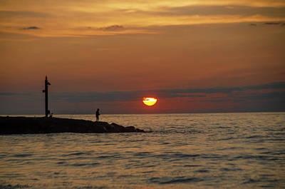 Photograph - North Beach Avalon New Jersey Sunrise by Bill Cannon