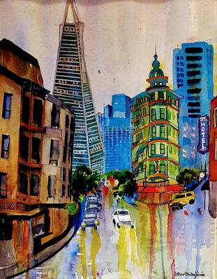 Painting - North Beach S.f. by Esther Woods