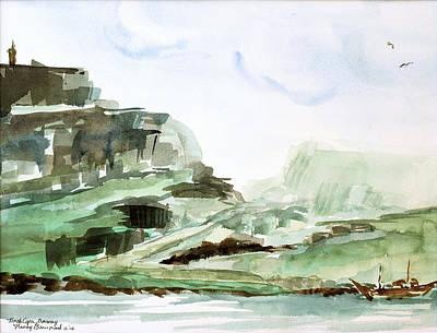 North Cape Art Print by Nancy Brennand