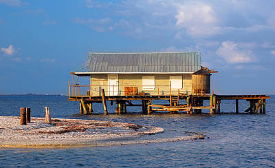 Photograph - North Captiva Island Last Stilt House Standing by Ginger Wakem
