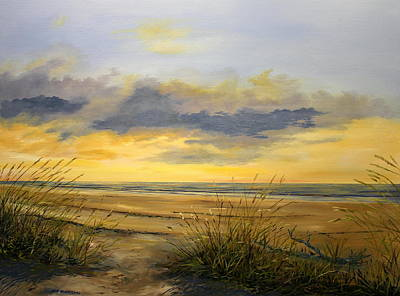 North Captiva Sunset Art Print by Ken Ahlering