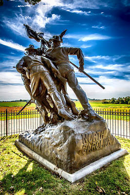 Digital Art - North Carolina At Gettysburg by John Haldane